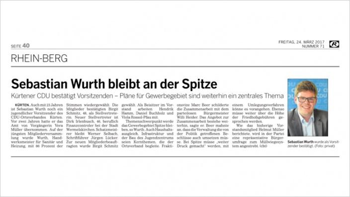 CDU Kürten wählt neuen Vorstand